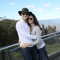 Adam Lyons with wife Amanda sightseeing while traveling Lyons
